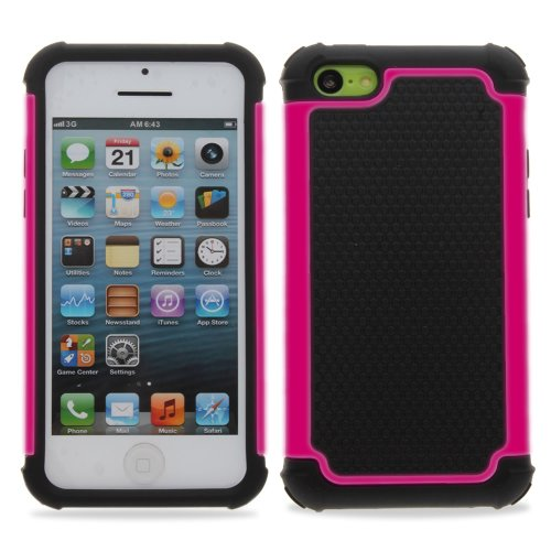 KAYSCASE TurtleBox Heavy Duty Cover Case for Apple iPhone 5C Smartphone Cell Phone (Pink)