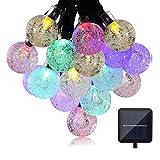 Solar String Lights, EveShine 19.7 ft 30 LED Outdoor Solar Powered Crystal Ball Globe String Lights for Garden, Path, Patio, Yard, Home, Halloween, Chrismas Tree, Parties