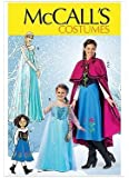 McCall's Crafts Pattern MP381: Winter Princess Costumes Featuring Anna and Elsa from Frozen (Kids Sizes)