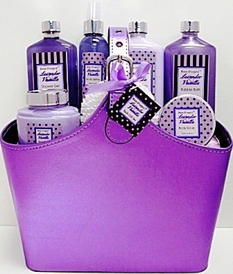 Bain D'esprit - Lavender Vanilla Spa Bath and Body Gift Set - Spa Gift Basket