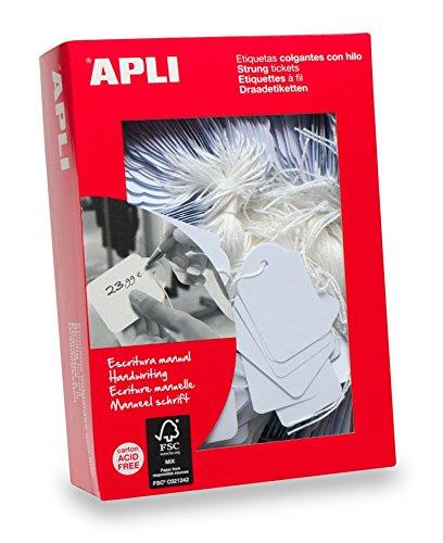 AGIPA Boite de 500 étiquettes bijouterie à fil 36 x 53 mm Blanc