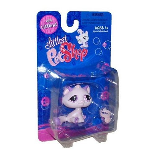 Buy Low Price Hasbro Littlest Pet Shop Littlest Figure Pink & Purple Cat (B0015ZXEPC)