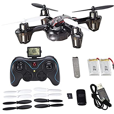 Holy Stone Mini RC Drone with 720p HD Camera 6-Axis Gyro 2.4 GHz,come with 2 Batteries & 8 Blades(Exclusive Design Sport Copter) from Holy Stone