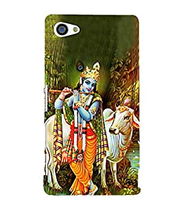 Lord Krishnayya 3D Hard Polycarbonate Designer Back Case Cover for Sony Xperia Z5 Compact :: Sony Xperia Z5 Mini