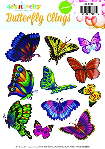 Easy Instant removable Butterfly Window Clings - 1