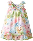 Blueberi Boulevard Baby Girls' Floral Chiffon Dress