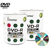 Smart Buy 200 Pack Dvd-r 4.7gb 16x Shiny Silver Blank Data Video Movie Recordable Media Disc 200 Disc 200pk