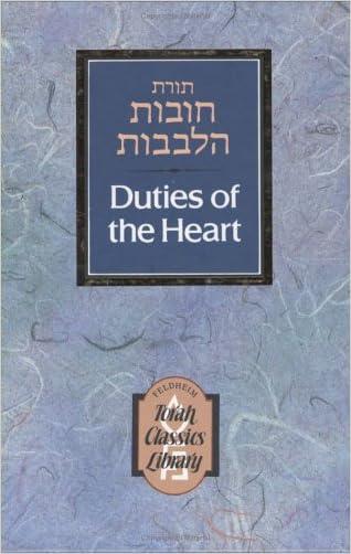 Duties of the Heart (2-Volume Set) (Torah Classics Library) written by Bachya ben Joseph ibn Paquda