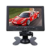 ノーブランド品 バックモニター 7インチ 車載モニター 1080P HDMI出力 VGAポート PC/DVD/バックカメラなどに接続可能 IRリモコン付き