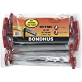 Bondhus 13187 Set of 8 Balldriver and Hex T-handles, sizes 2-10mm