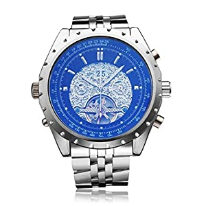 JARAGAR Men's Analog Automatic Mechanical with Date Week Month Displaying Wristwatch