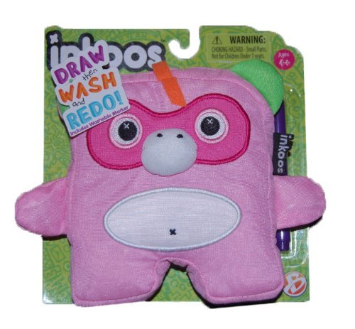Inkoos Mini Plush Monkey with Marker - Pink - by Inkoos
