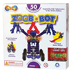 ZOOB 0Z14001 ZOOBBot Moving Mind-Building Modeling System, Assorted Colors, 50-Pieces from Zoob