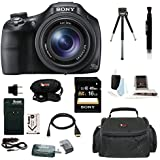 Sony Cyber-shot DSC-HX400 Digital Camera (Black) with 64GB Deluxe Accessory Bundle