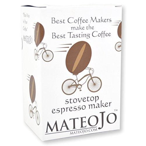 Mateojo Coffee Maker : Stovetop Espresso Maker - Italian Moka Pot - Cafetera - Cuban Coffee Machine - Medium by MateoJo ...