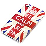 DeinPhone Keep Calm and Carry On Hardcase Cover Bumper for Apple iPhone 4/4S