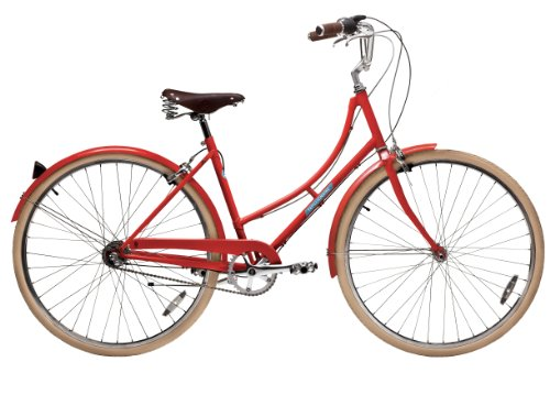 Papillionaire Sommer 3 Speed Vintage City Bike, Boston Red,