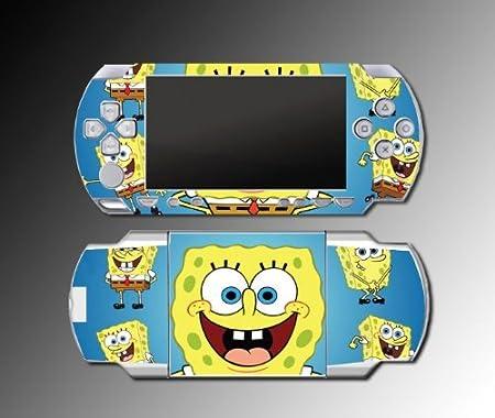 Spongebob Squarepants Cartoon Game Vinyl Decal Skin Protector Cover Kit 8 for Sony PSP 1000 Playstation Portable