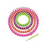 Artikelvorschlag zum Loop Schal Stricken: Farbenfroher Satz mit 4 Rundstrickhilfen in 14cm (5,5 Zoll), 19cm (7,5 Zoll), 24cm (9,5 Zoll), 29cm (11,5 Zoll) by Curtzy TM