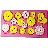 FOUR-C Gum Paste Decorating Tools Button Cake Decorating Mold Color Pink