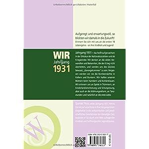 Wir vom Jahrgang 1931 - Kindheit und Jugend (Jahrgangsbände)