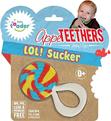Teething Toys - BPA Free - Lollipop Sucker Appe-teethers from Little Toader