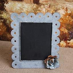 Gray Zinc Standing Chalkboard, Memo Board