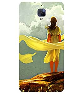 Chiraiyaa Designer Printed Premium Back Cover Case for One Plus 3 (Girl women painting) (Multicolor)