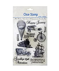 Shopaholic Attractive Travel Journey Clear Stamps for Decorative Purpose
