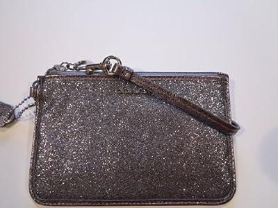 Coach Legacy Glitter Small Wristlet Silver 50374
