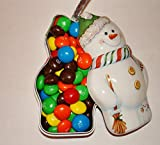 Christmas peanut butter M&M's snowman filled tree bauble