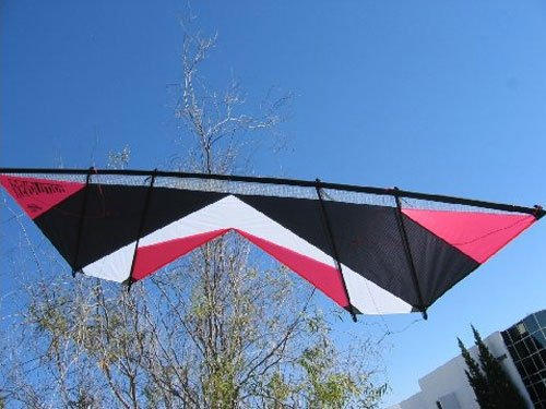 Revolution Shockwave Red White Black Quad Line Stunt Kite Made in the USA