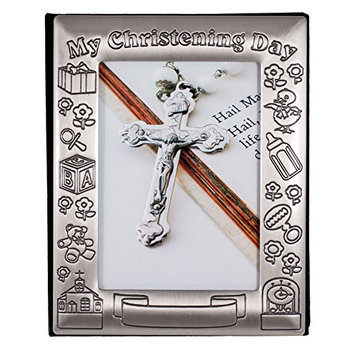 Christening Day Birth Record Pewter-finish Photo Album - 1