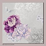 Designer Metallic Floral Wall Art