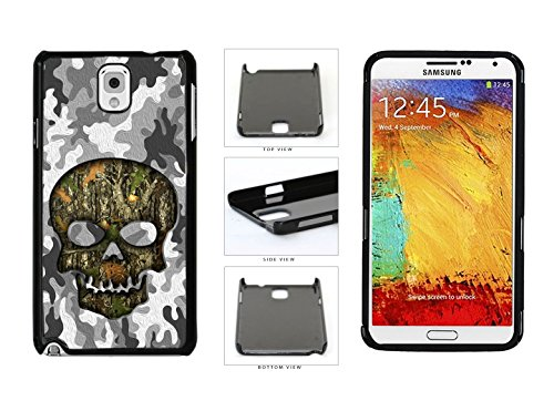 Human Skull With Camo Pattern Background Plastic Phone Case Back Cover For Samsung Galaxy Note III 3 N9002 comes with Security Tag and myPhone Designs(TM) Cleaning Cloth