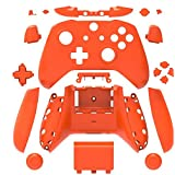 Canamite Replacement Parts Full Housing Shell Protective Case Cover Button Kit for Xbox ONE Slim Controller (Orange) (Color: Orange)