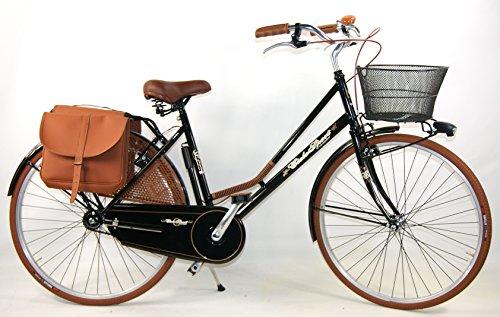 OFFERTA REGALO - Bicicletta COMPLETA da donna + Borsa posteriore e Cestino / QUALITA' ITALIANA