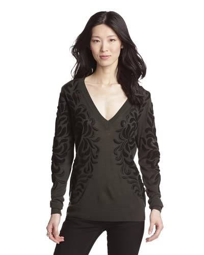 Rachel Roy Women's Embroidered Sweater