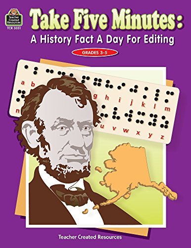 Take Five Minutes: A History Fact a Day for Editing (Take Five Minutes (Teacher Created Resources))
