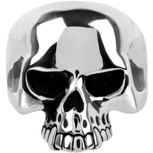 Inox Jewelry 316L Stainless Steel Skull Ring