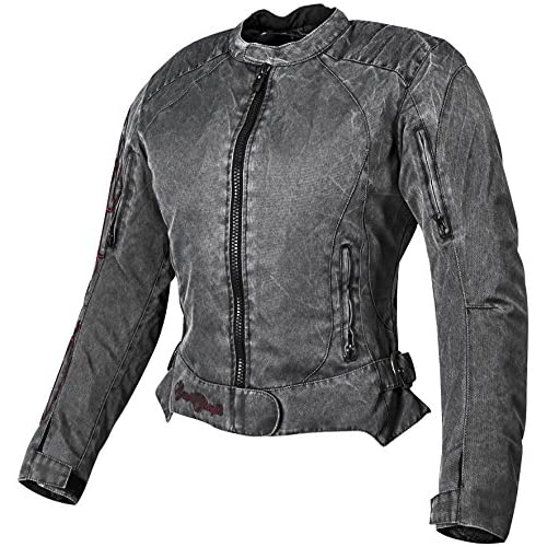 Speed and Strength Heart and Soul Women's Mesh Street Bike Racing Motorcycle Jacket - Vintage Black/Red / 2X-Large