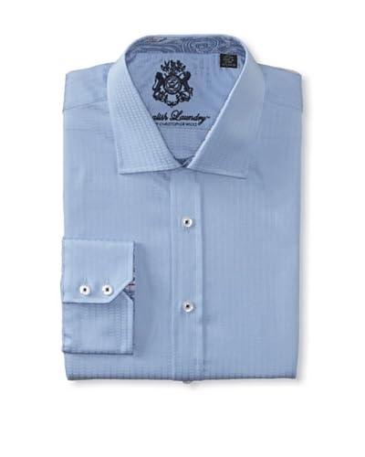 English Laundry Men's Herringbone Dress Shirt