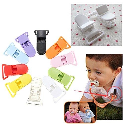 10pcs-KAM-Plastikfriedensstifter-Clips-Nette-Straps-Buckle-Schnuller-Nipple-Spielzeug-Dummy-Farbe-Grn