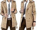 (アルファーフープ) α-HOOP メンズ 無地 スプリング トレンチ コート 2 色 展開 大きい サイズ も M ~ XL まで 大人 男 性 用 QP-R (6.ベージュ(XLサイズ))…