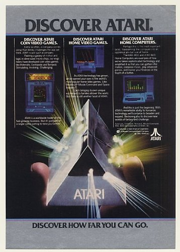 1982 Discover Atari Coin & Home Video Games Computer Print Ad (Memorabilia) (47866)