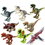 8 PCS /Set Age 6+ Size 7 cm. Jurrassic World Minifigures Jurrassic Park Dinosaur Building Blocks ABS Package Without Original box