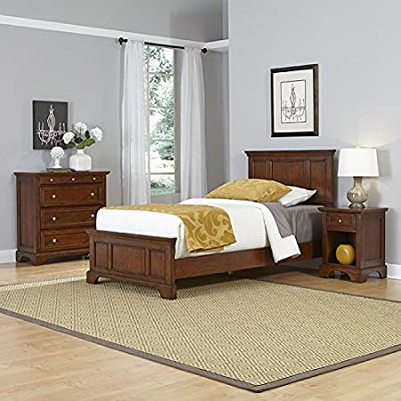 Home Styles Model  5529-4021 Chesapeake  Cherry Finish Bed Night Stand and Chest, Twin