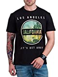 Hottribes Men's Cotton T-Shirt (FC72_Black_Medium)