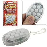 Zoobee Doo Tension Stress Relief Crazy Bubble Wrap Buster Popper Popping Sound Electronic Novelty Gadget Toy Key Ring Chain Keyring Gift (White)