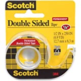 Scotch Double Sided Tape with Dispenser, 1/2 x 250 Inches (136)